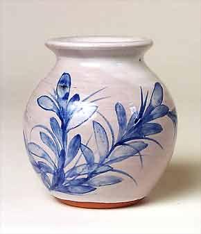 Blue Cripplesease vase