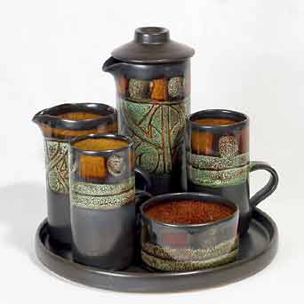 Celtic Medallion coffee set