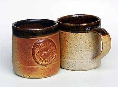 Pair of Muchelney mugs