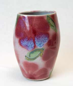 Elliptical Dartington vase