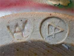 Elliptical Dartington vase (marks)