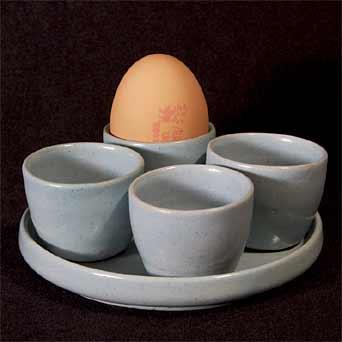 Blue Upchurch eggcup set