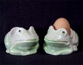 Green Sunset frog eggcups