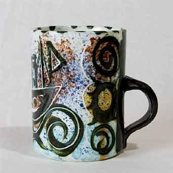 Early Celtic Folk boat mug II (side)