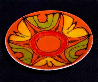 Poole orange Delphis dish