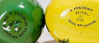 Joan de Bethel decorated eggs (marks)