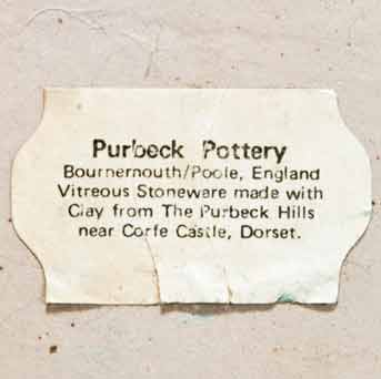 Purbeck lamp (label)