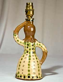 Early Rosemary Wren lamp (back)