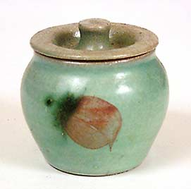 Lidded Alan Brough pot