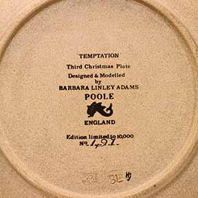 Poole Temptation plate (back)