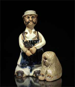 Tremar butcher and dog