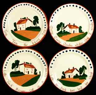 Watcombe nursery rhyme dishes