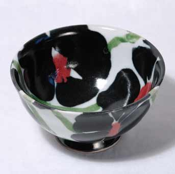 Janice Tchalenko Black Rose bowl