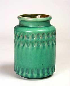 Rouletted Brannam vase