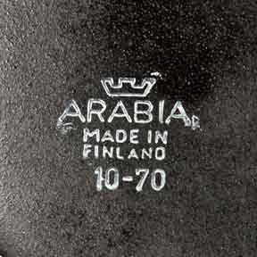 Arabia Ulla Procope black teapot (mark)