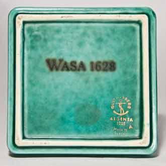 Argenta 'Wasa' dish (marks)