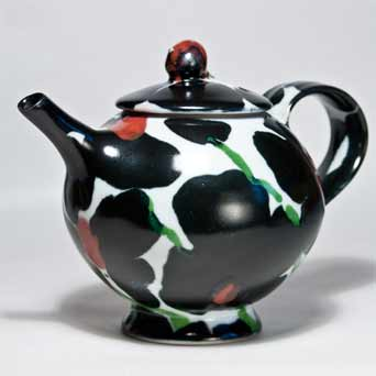Dartington Black Rose teapot