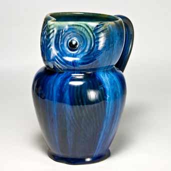 Denby Electric Blue owl jug