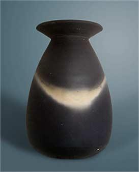 John Leach black mood vase