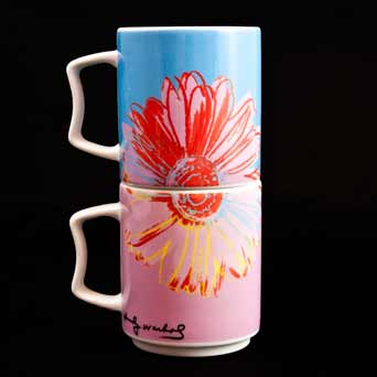 Pair of Warhol mugs (stacked 2)
