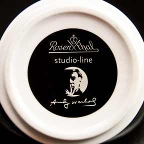Pair of Warhol mugs (mark)