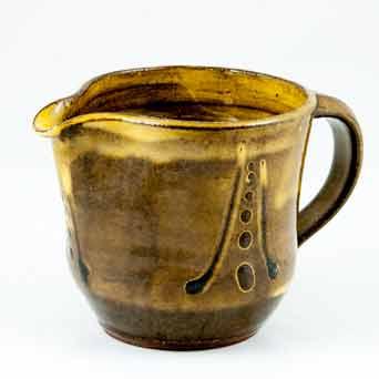 Brown Aylesford slipware jug